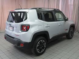 new jeep renegade black 2017 used jeep renegade trailhawk 4x4 at north coast auto mall