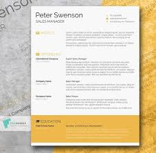Word Resumes Templates 40 Best Free Resume Templates To Download
