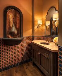 mediterranean style bathrooms cheerful spunk enliven your powder room with a splash of orange