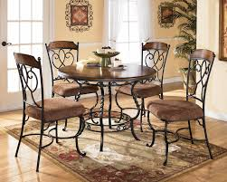 fabric cotton slat black set of 1214 round kitchen table and