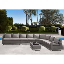 Gray Wicker Patio Furniture by Modern Outdoor Bora Bora 6 Piece Gray Wicker Sectional