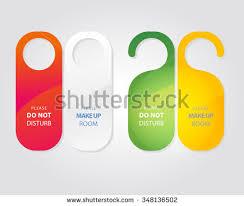 hotel door hanger template free do not disturb door hanger vector set free vector