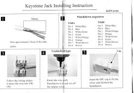 cat6 punch down keystone jack for wiring diagram gooddy org