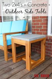 2x4 Outdoor Furniture by Diy Outdoor Side Table 2x4 And Concrete Fixthisbuildthat