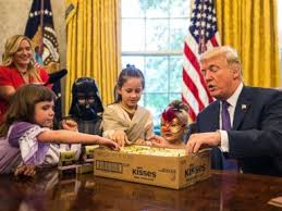 trump in oval office trump greets oval office trick or treaters i can t believe the