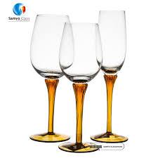 Unique Wine Glasses by Orange Colored Stem Wine Glass Orange Colored Stem Wine Glass