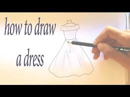 how to draw a dress easy step by step youtube