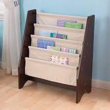 amazon com kidkraft sling bookshelf espresso toys u0026 games