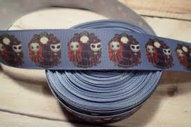 skellington ribbon nightmare before christmas grosgrain ribbon skellington