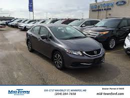 lexus dealers winnipeg manitoba used 2015 honda civic sedan ex 4 door car in winnipeg mb 17w1e227a
