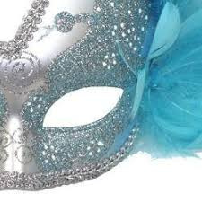 blue masquerade masks light blue and silver venetian masquerade mask with light blue