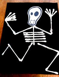 alive and mortal kids craft skeleton flag for your ofrenda