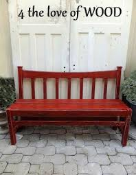 Bench Made From Bed Headboard 276 Best From Bed To Bench Images On Pinterest Headboard Benches