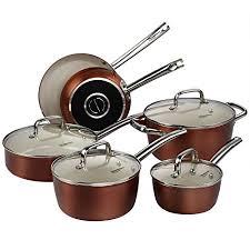 home pans 10 piece pots and pans set cooksmark ceranano ceramic nonstick
