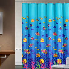 Fish Curtains Tropical Fish Shower Curtain Blue Bathroom Shower Curtains
