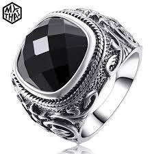 aliexpress buy mens rings black precious stones real aliexpress buy vintage decoration luxury black ring