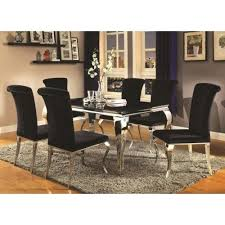 coasters for table legs coaster carone contemporary glam dining room set with upholstered