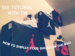 How To Hang Fabric On Walls Without Nails by How To Display Your Shoes On The Wall Tutorial Youtube