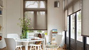 roller blinds great example of how they hang out from door to go