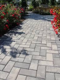Herringbone Brick Patio Nicolock Pavers Paramount Stone