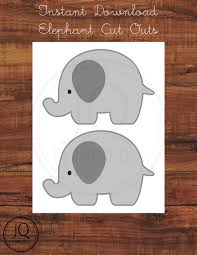 printable elephant party decor gray elephant cut out