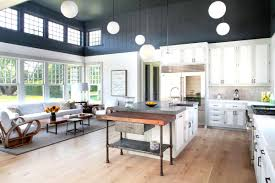 beach kitchen design dark wood floors wood floors