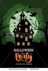 scary halloween status quotes wishes sayings greetings images spooky halloween house halloween invitation banner stock vector
