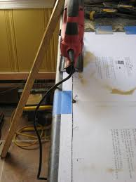 cutting countertop for sink installing a self rimming sink in a postform laminate countertop