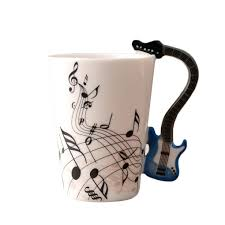 wholesale new stylish ceramic music score patterns cups mugs with