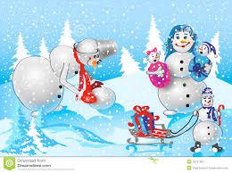 family of snowmen stock photography image 35161992