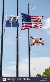 Why Are The Flags Flying Half Mast Us City Of Orlando And Florida State Flags Flying At Half Mast At
