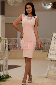 inpuff rochii rochie midi roz pudra rochii dama ieftine