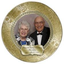 50th wedding anniversary plate 50th wedding anniversary photo plate zazzle