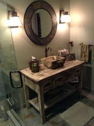 Rustic Farmhouse Bathroom - vanities reclaimed wood vanity with vessel sink reclaimed wood