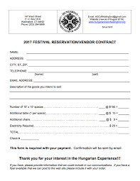 Vendor Contract Template Create A Hungarian Club Of Wallingford 2017 Hungarian Festival