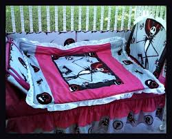 custom made to order new pink nightmare before crib