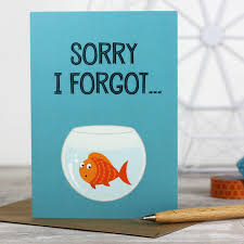 sorry i forgot u0027 belated birthday card by wink design