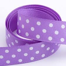 polka dot grosgrain ribbon lilac polka dot grosgrain ribbon at favour this