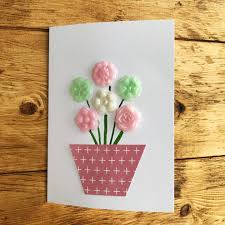 Mother S Day Greeting Card Handmade Making Mothers Day Cards With Gel A Peel Five Little Doves