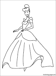 princess cinderella coloring page coloring pages