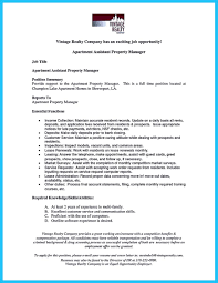Property Management Resume Estate Manager Cover Letter Manager Cover Letter Leasing
