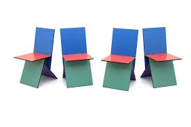 ikea chaises pliantes et empilables chaises vilbert par verner panton pour ikea 1993 set de 4 en