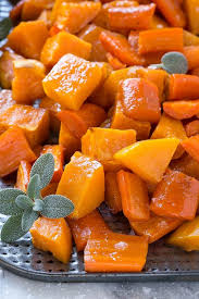 Glazed Root Vegetables Recipe - oven roasted butternut squash with root vegetables and honey
