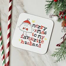 merry christmas to my favourite husband u0027 xmas card by parsy card