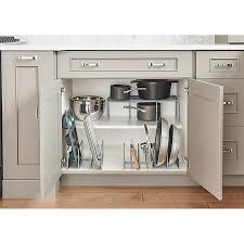 kitchen cabinet storage canada org metal pot and lid organizer in silver bed bath and