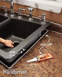 How To Caulk A Kitchen Sink Replace A Sink Family Handyman