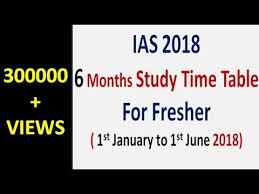 ias 2018 u003d 6 months study time table for freshers eng hindi