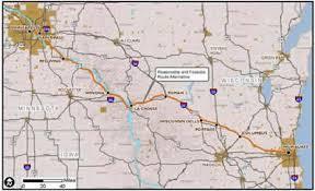 Light Rail Map Minneapolis Minneapolis St Paul Milwaukee High Speed Rail Corridor To Chicago