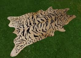 second life marketplace tiger skin rug