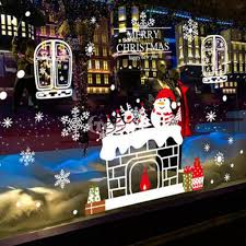 Christmas Window Decorations For Sale by New Year U0026 Christmas Glass Decoration On Sale Snowman Window